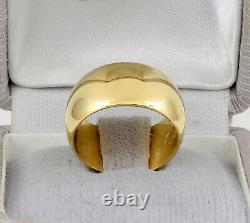 Antique Wide Russian Imperial 14Ct Gold Wedding Ring / Band 56 Zolotnik Mark