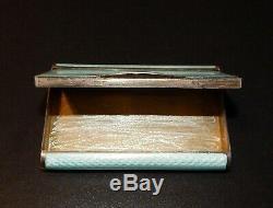 Antique imperial RUSSIAN SILVER cloisonné ENAMEL CIGARETTE CASE FABERGE blue old