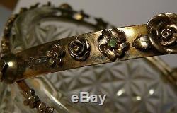Basket Imperial Russian 84 Silver Crystal Kiev 1886 Rubies Emeralds Citrine