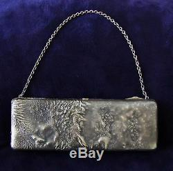 ESTATE SALE! ANTIQUE IMPERIAL RUSSIAN SILVER and GOLD EVENING PURSE / BAG