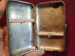 Early 1900, 156 grams ANTIQUE 84 SILVER CIGARETTE CASE IMPERIAL RUSSIA RUSSIAN