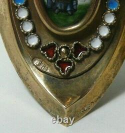 Easter Egg Box Enamel Gilding 84 Silver Imperial Russian Moscow 1910