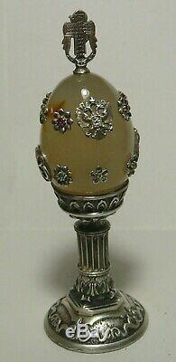 Egg Silver 84 Diamonds Nicholas II Imperial Russian 1901