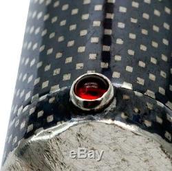 FABERGE Design K Imperial Russian 84 Niello Silver 88 Lipstick Pendant Ruby KF