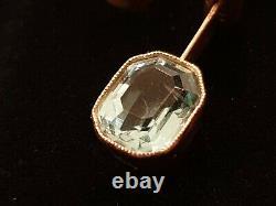 FABERGE Era Imperial Russian Empire Pendant Pin 56 Gold Tsar ROMANOV 14K Jewelry