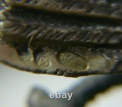 Faberge Double Eagle 84 Silver Imperial Russian Malachite