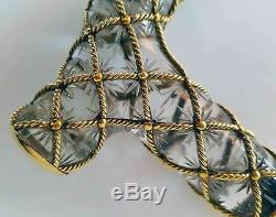 Faberge Extremely Rare Russian Imperial Cut Glass Mounted Cane