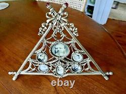 Faberge Photo Frame Picture Russian Imperial multi-photo Pewter Jewelled