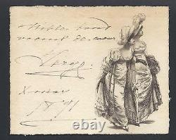 Grand Duke Sergei Romanov Imperial Russian Antique Signed Christmas Card 1891