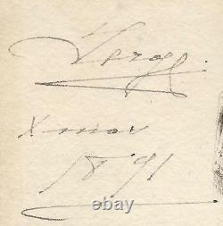 Grand Duke Sergei Romanov Imperial Russian Antique Signed Christmas Card 1891
