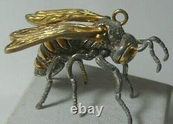 Honeybee Bee Gilding 84 Silver Imperial Russian 1910