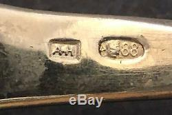 Huge Antique Imperial Russian 88 Enamel Silver Serving Spoon (Navalinen)