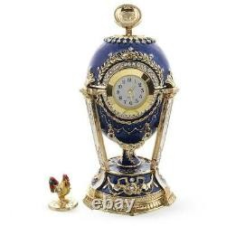 Imperial 1900 Cockerel Royal Russian Egg Enamel Gold Plated Pewter Handemade