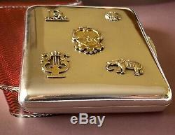 Imperial Russian 84 Silver Cigarette Case With Overlays 1908-1917
