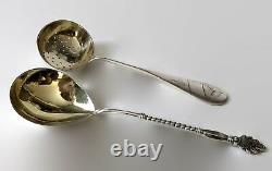 Imperial Russian 84 Silver Tea Strainer Spoon & 875 Silver Serving Spoon