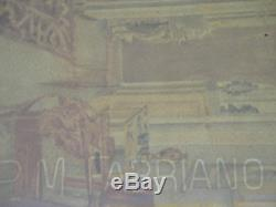 Imperial Russian Aristocratic Interior Antique Watercolour 1910