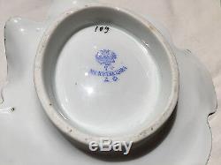 Imperial Russian Kuznetsov Porcelain Pumpkin Butter Dish