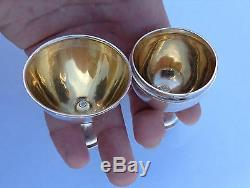 Imperial Russian Novelty Silver Easter Egg Cups Box Sputnik Yakov Lyapunov