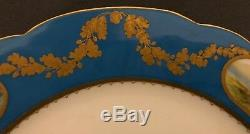 Imperial Russian Porcelain Dinner Plate From The Alexandrinsky Turquoise Service