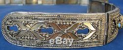 Imperial Russian Silver Gilt Belt Mark 84 Filigree Turquoise Sterling Cassack