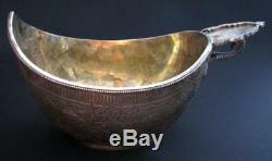 Imperial Russian Silver Massive Bowl Kovsh Ovchinnikov From Auction House