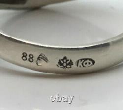 K. FABERGE Russian Imperial 88 Silver Enamel Ring Emperor Yacht Club