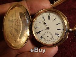 LARGE ANTIQUE 94.6 gr GOLD 14K POCKET WATCH PAVEL BURE BUHRE IMPERIAL RUSSIAN