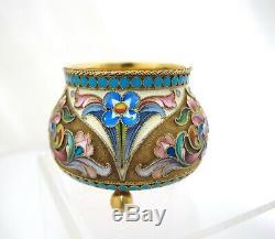 Museum quality Imperial Russian silver Salt & Spoon Maria Semenova Moscow c1899