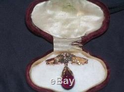 Old Russian Imperial Gold 56 Brooch Afanasiev For Faberge Russia Antique Jewelry