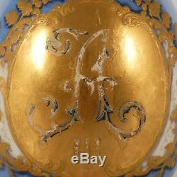 RARE Antique Russian Imperial Porcelain Alexander III Presentation Easter Egg