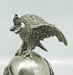 RARE Russian Imperial 88 Silver Easter Egg Icon by August Holming Faberge firm
