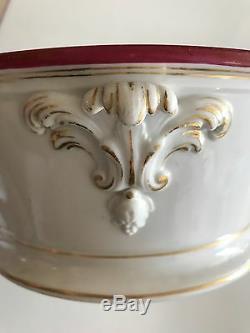 Rare Alexander II Antique Russian Ceramic Imperial Porcelain Soup Bowl
