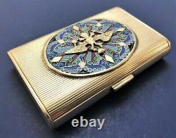 Rare Antique Imperial Russian 84 Silver Enamel Case (Tillander)