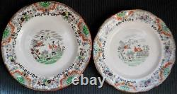 Rare Antique Imperial Russian Kuznetsov Handpainted Porcelain Plate Dish Signed