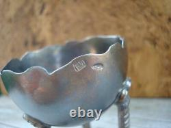 Rare Antique Imperial Russian Sterling Silver 84 Boiled Egg Cup Signed 47 gr