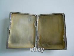 Rare! Faberge design Russian Imperial 84 Silver igarette ase in box