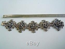 Rare RUSSIAN Imperial 84 Silver Bracelet Faberge design