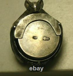 Rare Silver 84 Imperial Russian Coin Box Double Headed Eagle Crown Small Diamond