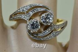 Rare antique Imperial Russian Art-Nouveau 18k gold&Diamonds ladies ring and box