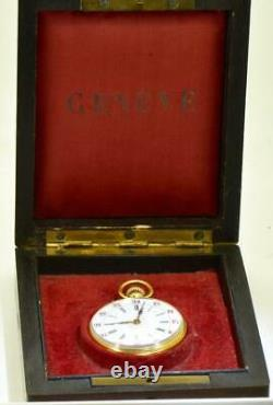 Rare antique Imperial Russian presentation 18k gold ladies watch c1890's, boxed