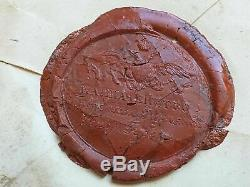 Royalty Imperial Russian Tsar Signed Document Autograph Royal Wax Seal Seal Arms