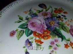 Russia Russian Imperial Porcelain Cobalt Flowers Plate Nicholas-1 (1825-1855)