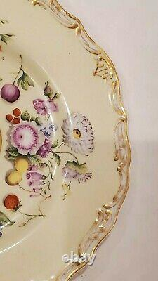 Russia Russian Imperial Porcelain Fruits and Flowers Luncheon Plate Nicholas I