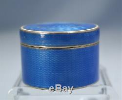 Russian Imperial 84 Gilt Silver & Blue Guilloche Enamel Snuff Box Circa 1900