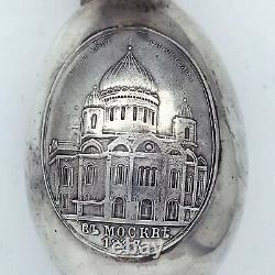 Russian Imperial 88 Silver Easter Egg Icon by August Holming Faberge firm