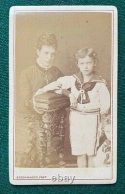 Russian Imperial Antique Bergamasco CDV Photo Tsar Nicholas II Romanov Dagmar