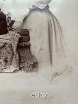 Russian Imperial Antique Levitsky Cabinet Photo Tsar Nicholas II Romanov Baby