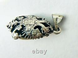 Russian Imperial Antique Sterling Silver 84 Women's Jewelry Pendant Easter Egg