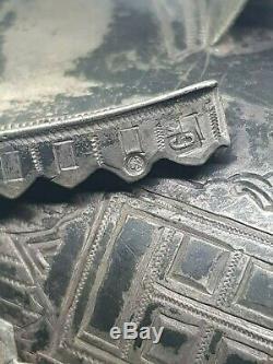 Russian Imperial Antique Tea Glass Holder Silver 84 Podstakannik Kokoshnik mark