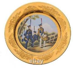 Russian Imperial Porcelain Military Dish, Meissen